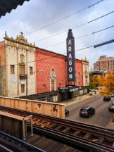 Aragon Theater Uptown Chicago from EL Platform 1