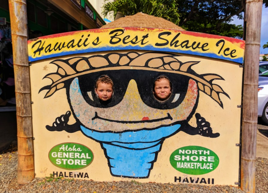 Taylor Family at Alaho General Store Haleiwa North Shore Oahu 1