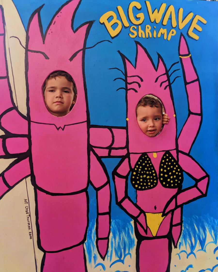 Taylor Family at Big Wave Shrimp food truck Oahu North Shore 1