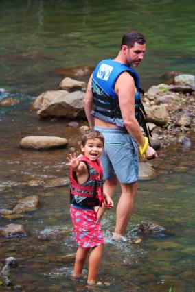 Taylor Family in waterfalls at Waimea Valley North Shore Oahu 2