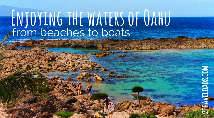 The beaches on Oahu are perfect for lounging and swimming, but also experiencing beautiful wildlife. Snorkeling and boating provide up-close looks at the tropical waters off Oahu. 2traveldads.com