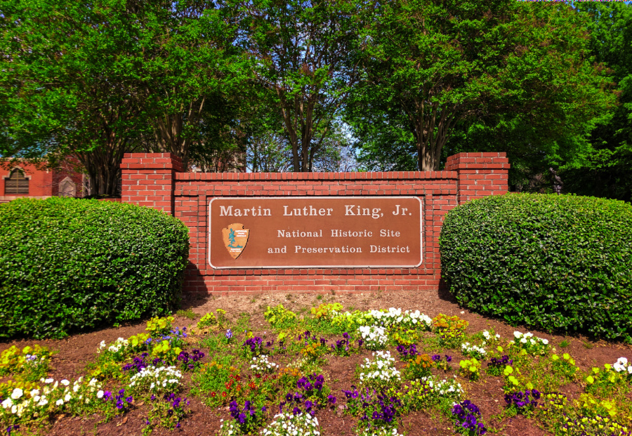 Entrance to King Center Martin Luther King Jr National Historic Site Atlanta 2