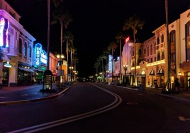 Hollywood Blvd Universal Studios Florida Orlando at night 2