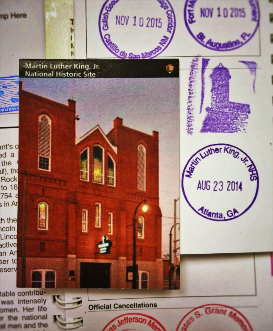 MLK National Historic Site Trading Card and Passport Cancellations 1