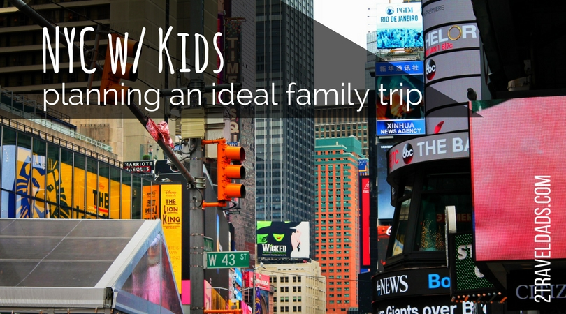 NYC with kids is an epic family travel experience. Iconic sites and museums, great food and culture from around the world. Planning activities and using rewards for an ideal trip makes NYC with kids affordable and fun. 2traveldads.com