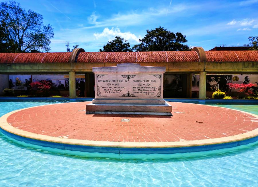 Reflecting Pool and Crypt at Martin Luther King Jr National Historic Site Atlanta 3