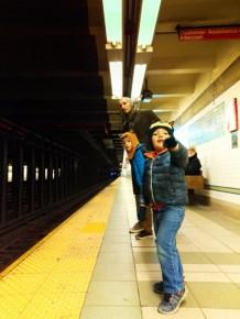 Taylor Family at Prince St Station Subway New York 2