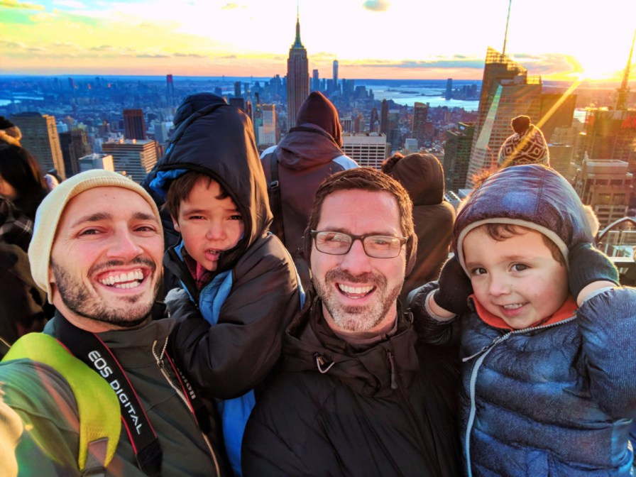 Taylor Family at Top of the Rock NYC 1