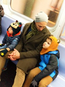 Taylor Family on Subway New York City NYC with kids 5