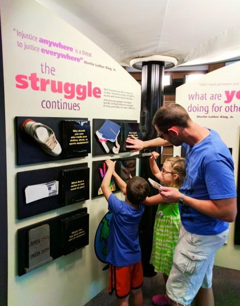 Taylor family at Exhibits at Martin Luther King Jr National Historic Site Atlanta 1