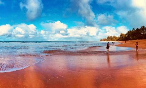 2DadsWithBaggage at Haena Beach Kauai Hawaii 1
