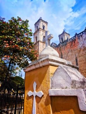 Cathedral in Valladolid Yucatan road trip 5
