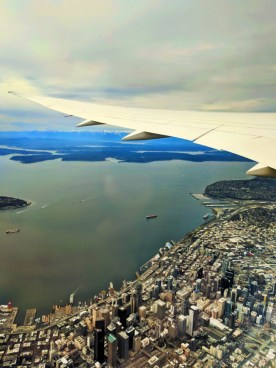 Downtown Seattle from plane 1
