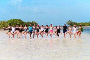 Yoga Retreat Participants at Yum Balam Nature Preserve Isla Holbox Yucatan 5