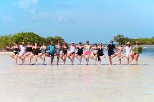 Yoga Retreat Participants at Yum Balam Nature Preserve Isla Holbox Yucatan 5
