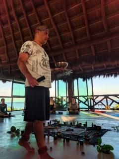 Yoga Session opening ceremony Victor Varana Yoga Retreat Isla Holbox Yucatan 5