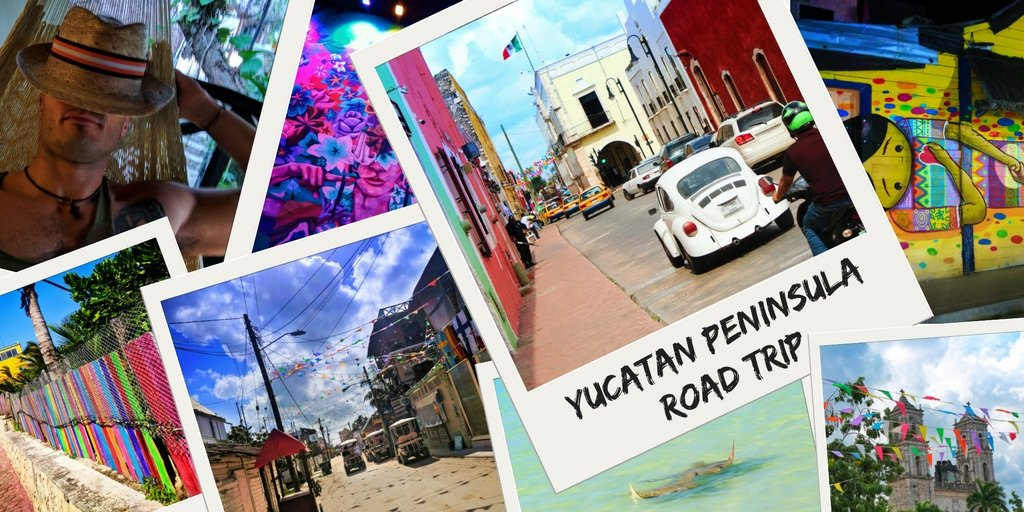 Complete Yucatan road trip itinerary. A Yucatan Peninsula road trip is the most colorful driving vacation you can do. With colorful towns, beaches, ruins, cenotes and more, a Yucatan road tirp is unforgetable. 2traveldads.com