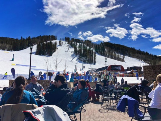 Rich SkiLikeADad Children's Apres Ski patio time Vail Colorado 2018 1
