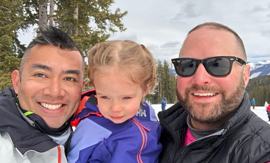 Rich SkiLikeADad family pic in Vail Colorado 2018 1