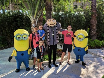 Taylor Family at Minions Character Breakfast Sapphire Falls Resort Universal Orlando 6