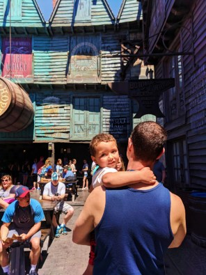Taylor Family in Diagon Alley Wizarding World of Harry Potter Universal Studios Florida 3