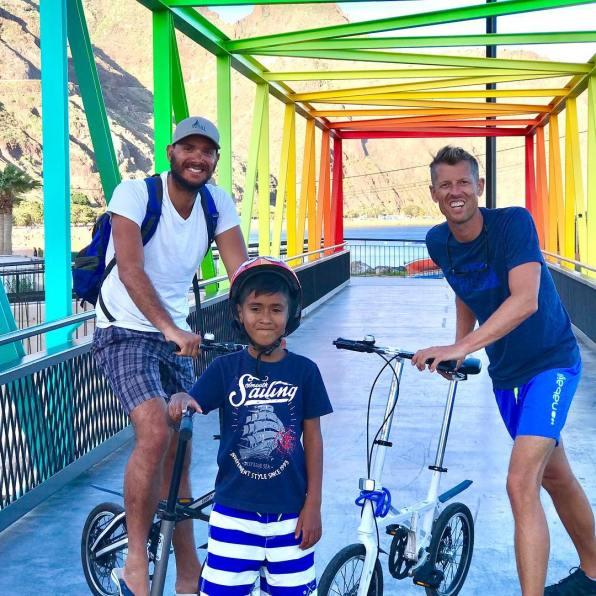 Wind Expedition Blue rainbow bridge in Mediterranean 2