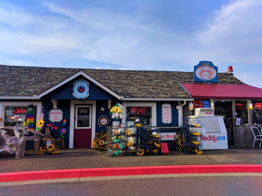 Bait shop Old Town Bandon Oregon Coast 1