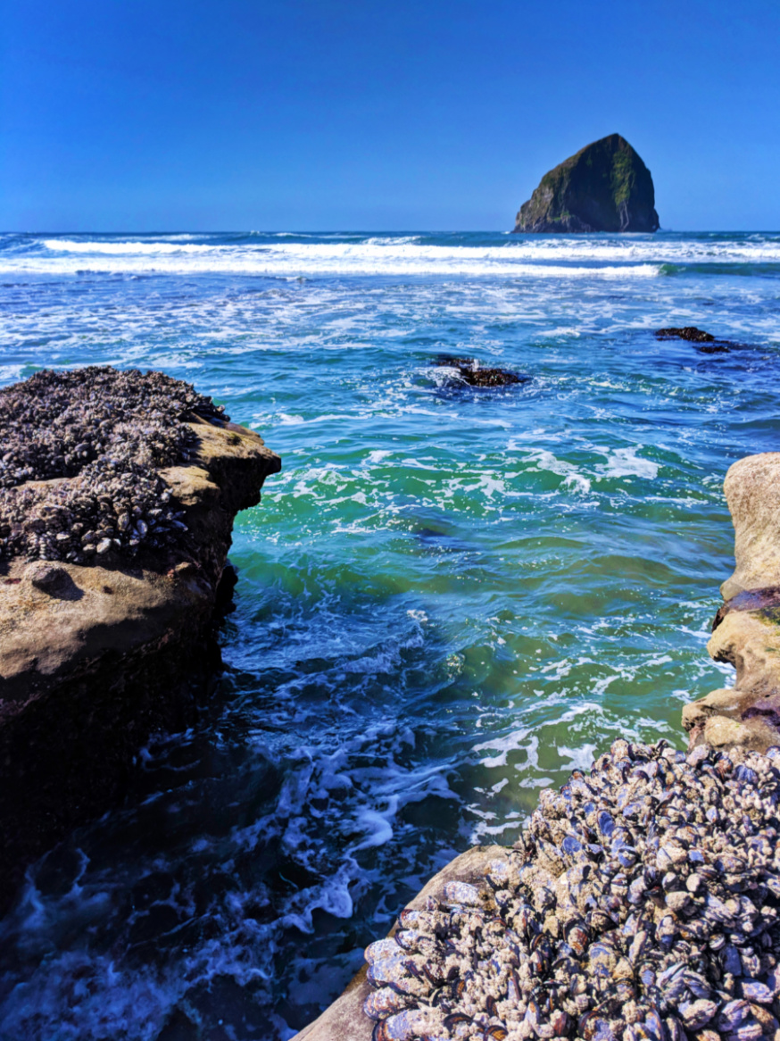 Crashing waves at Cape Kiwanda Pacific City Oregon Coast 1