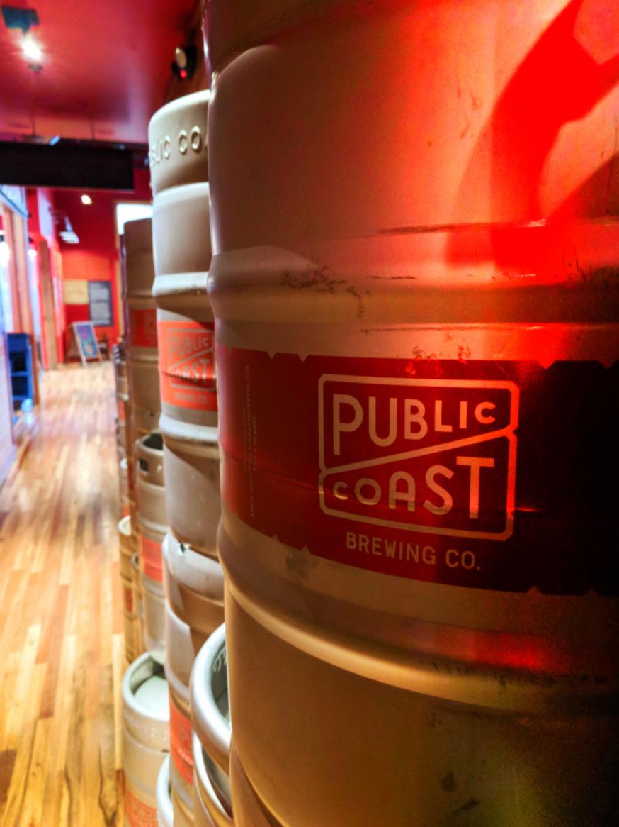 Kegs at Public Coast Brewing Cannon Beach Oregon Coast 1