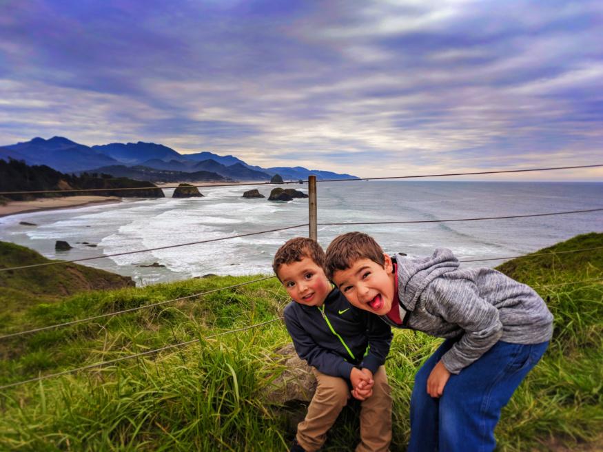 Taylor Family at Ecola State Park Cannon Beach Oregon Coast 2