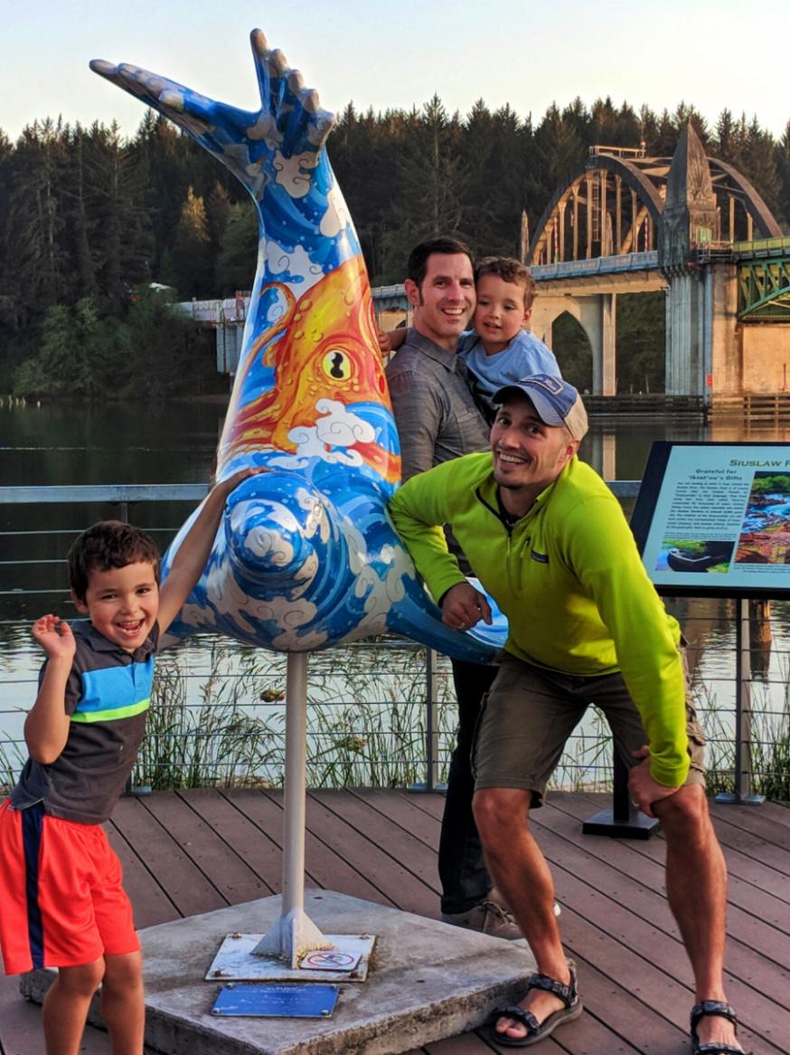 Taylor Family at Florence boardwalk Oregon Coast Highway 101 1