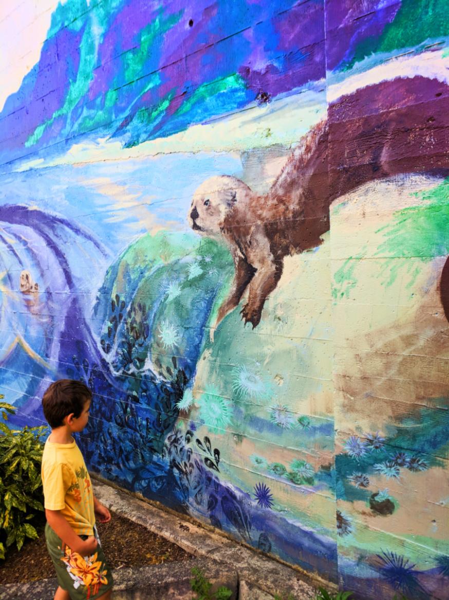 Taylor Family with Marine Life Street Art Coos Bay Oregon Coast 1