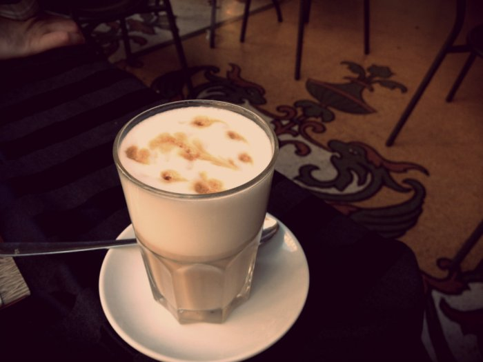 We discovered latte macchiatos. Coffee will never be the same.