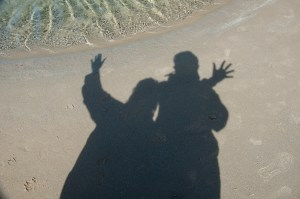 This is us on the beach in Newport, Oregon