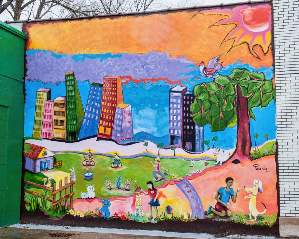 Street art found on Wealthy Street not far from the Wealthy Street Bakery