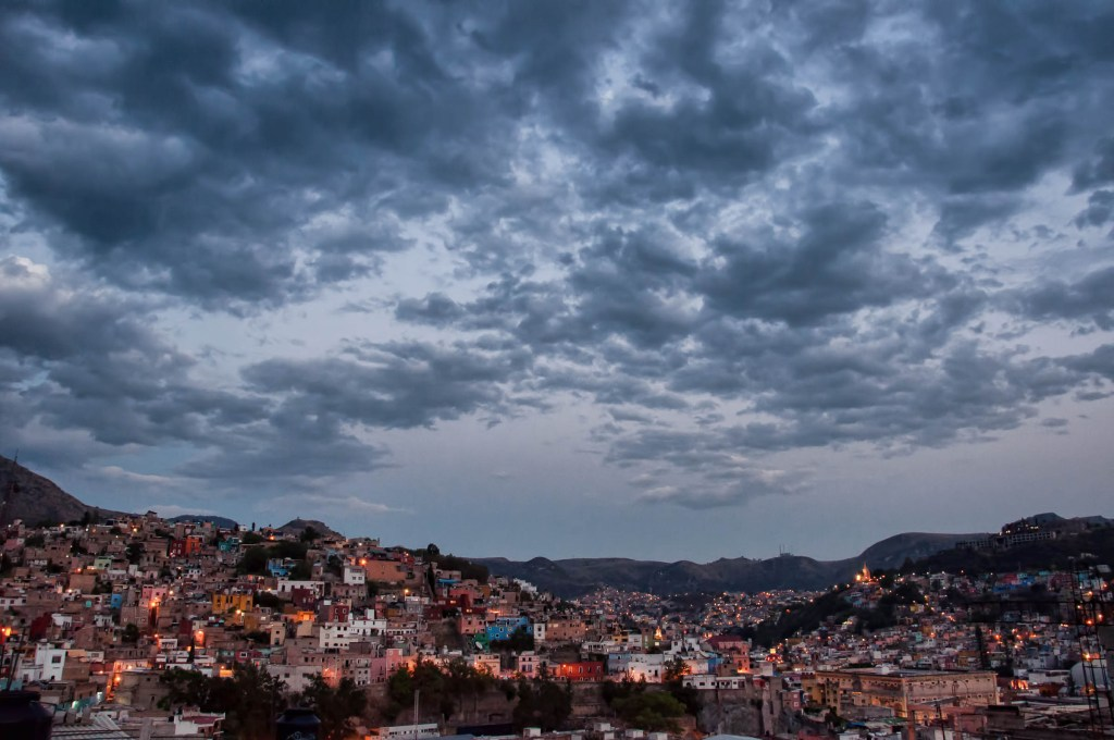 Wide-Angle View of Guanajuato From Our Rooftop Veranda