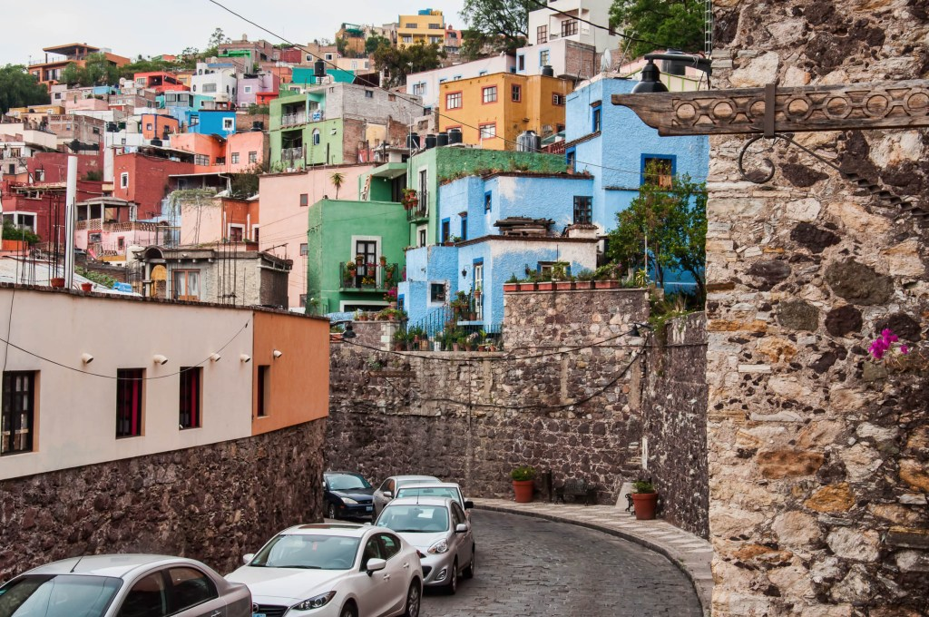 Out of the Tunnel - Colorful Houses of Guanajuato