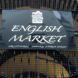 Sign marking one of the entrances to English Market