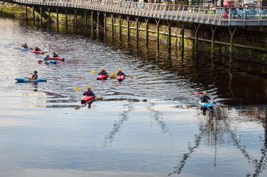 Kayakers on the River Lee