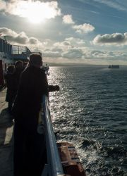 On the ferry to Dublin