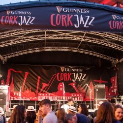 Outdoor stage for the Guinness Cork Jazz Festival