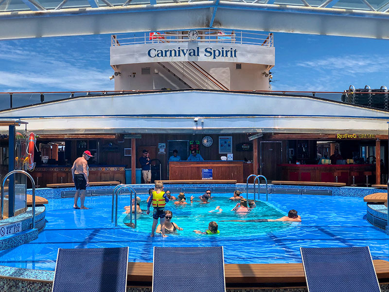The Carnival Spirit main pool