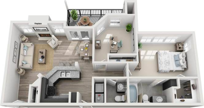 One Bedroom Apartment In Austin 928 Square Feet