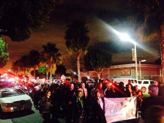 Hundreds march from Compton, CA to Lynwood, CA against trafficking of children (photo: @MRTempower)