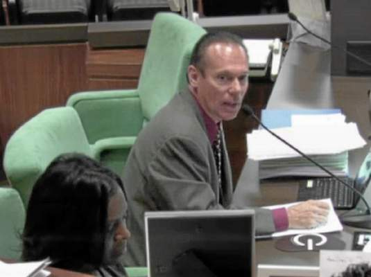 Carson City Clerk Jim Dear speaks during June 16 city council meeting. (Photo: Still from Carson City Council broadcast)