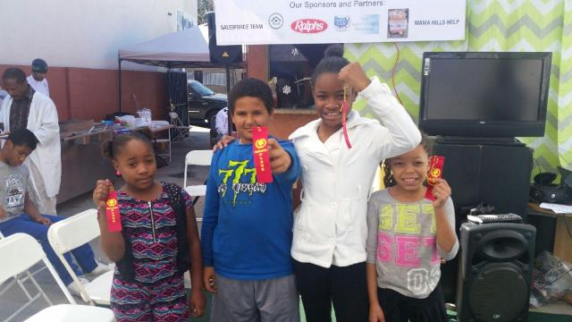 Second Place Winners: Kaamilah, Giovanni, Misaron, and Malaysia. (photo: Dhat Stone Academy)