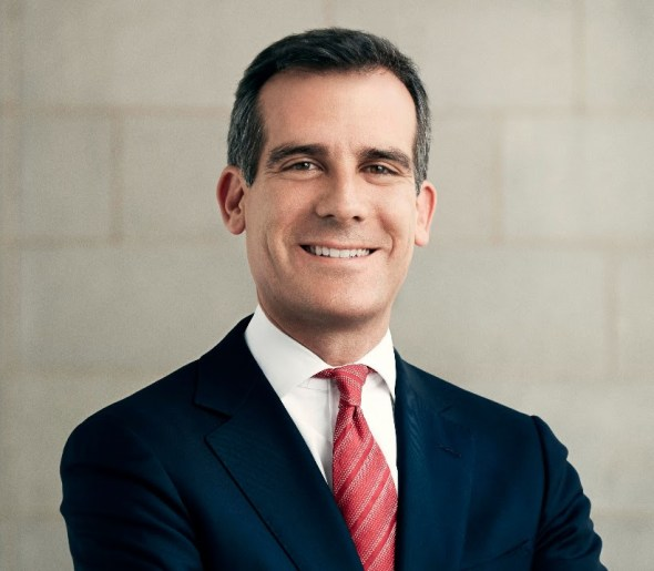"L.A. Mayor Eric Garcetti ""I am proud to endorse Senator Isadore Hall. I encourage you to support Isadore Hall for Congress."""