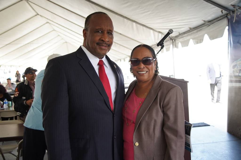 Inglewood Mayor James T. Butts Jr. and Gloria D. Gray