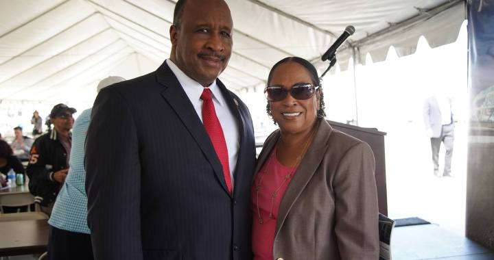 Inglewood Mayor James T. Butts Jr. and Gloria D. Gray