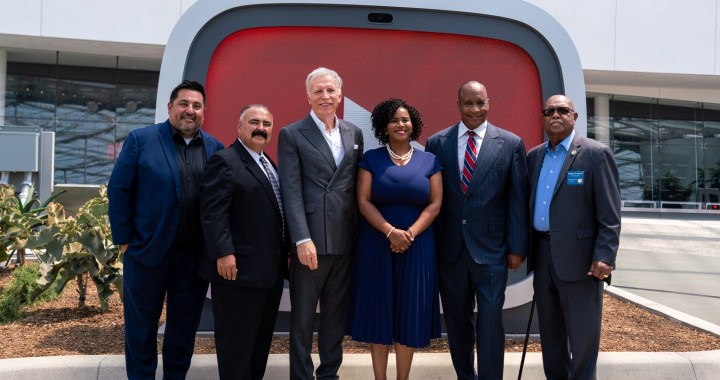 Inglewood City Council with Stan Kroenke at opening of YouTube Theatre in Inglewood, CA. (Credit: City of Inglewood)